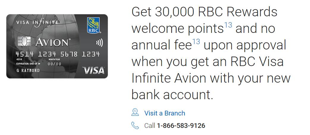 RBC NEW ACCOUNT DEALS