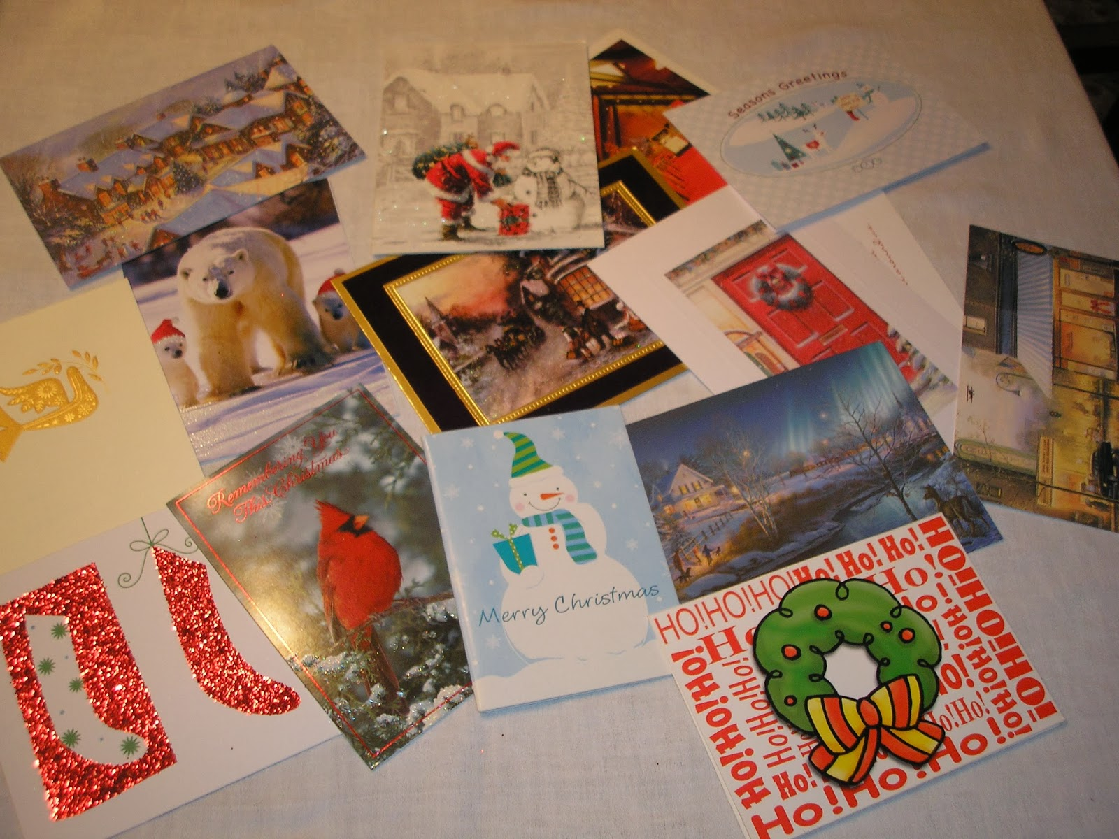 Romancing the Genres: Recycled Christmas Cards
