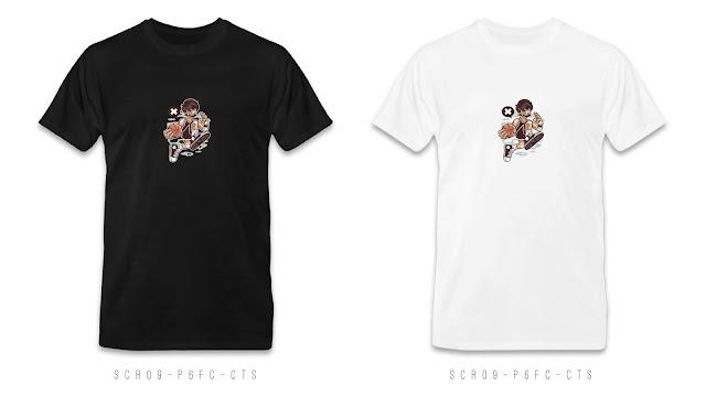 SCR09-P6FC-CTS Cartoon T Shirt Design, Custom T Shirt Printing