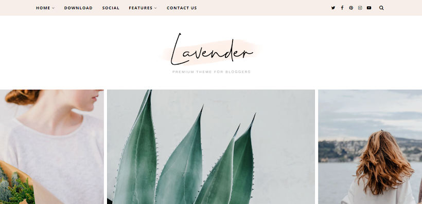 Lavender Free Blogger Template