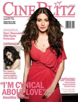 Anushka Sharma on the cover of Cineblitz magazine