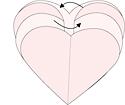 como hacer un corazon de cartulina