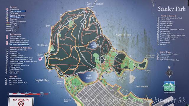 溫哥華,Vancouver, Stanley Park,  map, 地圖