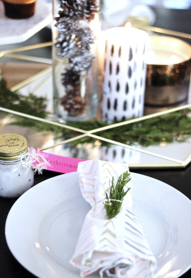 Rustic Meets Glam Holiday Entertaining Guide Pastels & Pastries