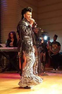 Nona Hendryx performing on stage.