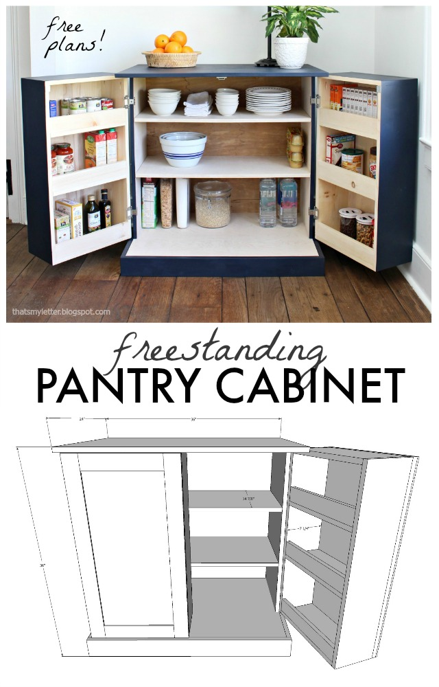 That 39 s my letter diy freestanding kitchen pantry cabinet - Kitchen freestanding pantry ...