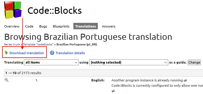 CodeBlocks 17 12 em Português PT-BR