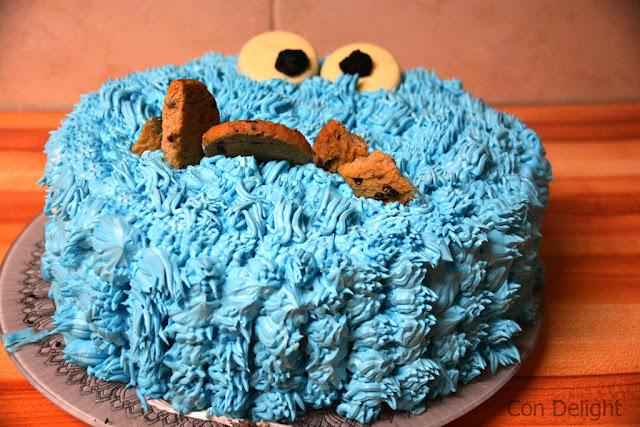 עוגת עוגיפלצת כחולה blue cookie monster cake