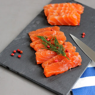 Illustration Gravlax de Saumon Aneth & Baies Roses