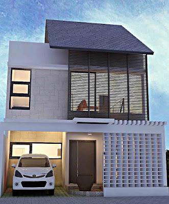 Model Desain Rumah Minimalis 2 Lantai Sederhana type 36
