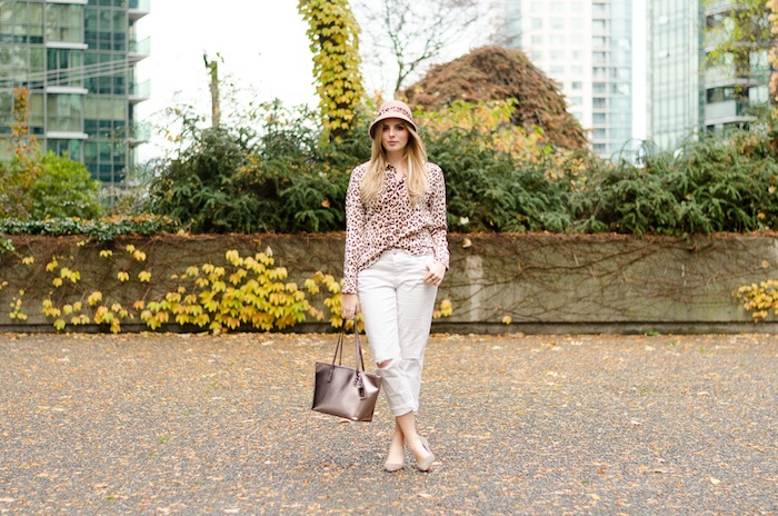 Canadian Blog, Blogger, Style Blogger, Vancouver Blogger, White Jeans, Leopard Print Outfit