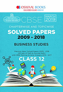 CLASS 12 BUSINESS STUDIES :- OSWAAL CBSE CHAPTER VISE AND TOPIC VISE SOLVED PAPERS