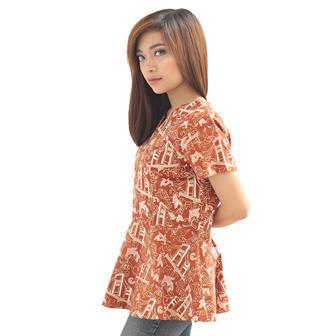 Model Baju Batik Atasan Untuk Wanita Muda