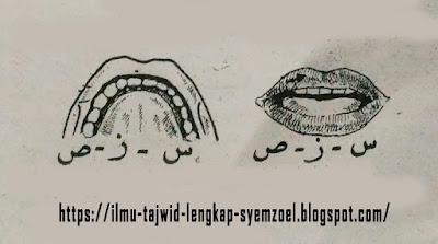 Pembagian Tempat Keluarnya Huruf - Bagian 3 Maudhi'ul Lisan