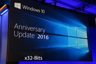 Windows 10 x32 Bits Anniversary Update 2016 Cover