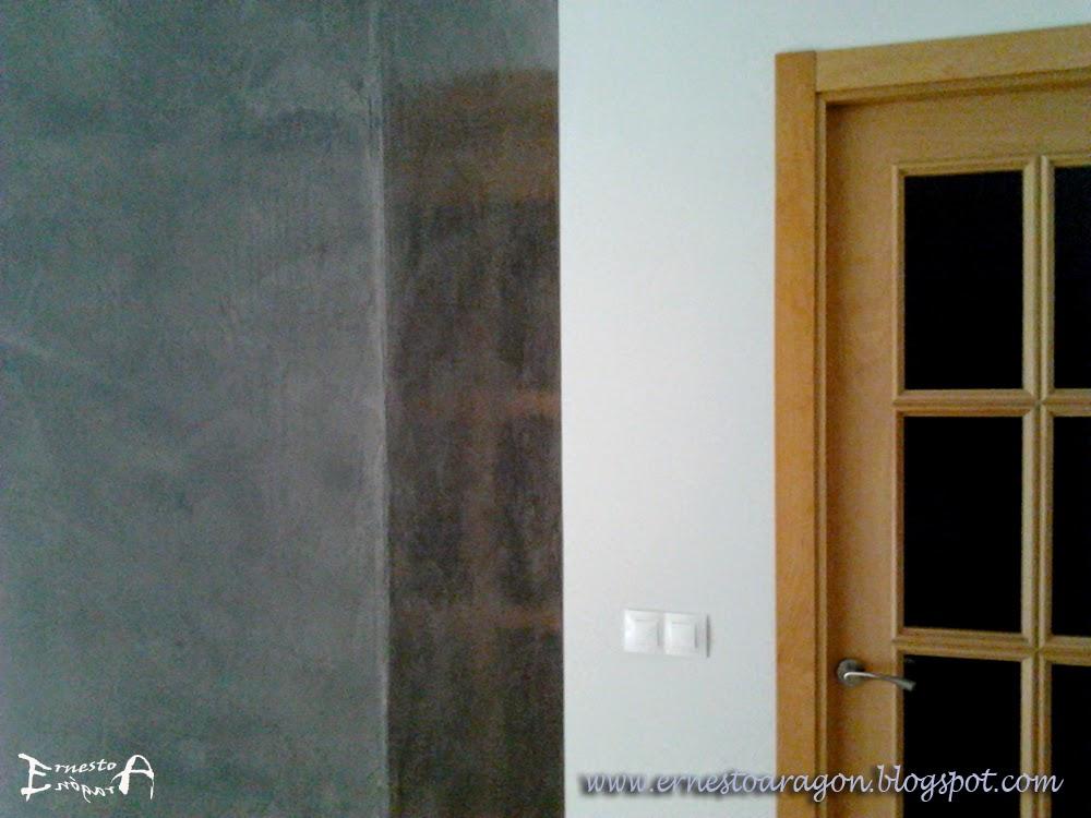 Ernesto arag n pintura para el hogar estuco veneciano - Como decorar una columna en el salon ...