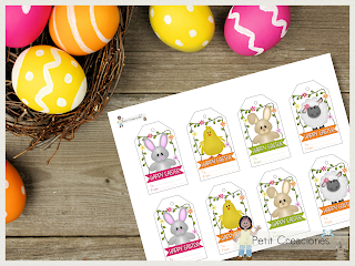 Gift tag EASTER, tags printable, DIY, easter, spring, gift idea , printable tags, printable gift tags