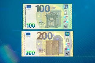 ¿Sabes cómo son los nuevos billetes de 100 y 200 €? Estarán en circulación desde el 28 de mayo