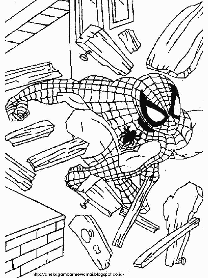 Gambar Mewarnai Spider Man Untuk Anak PAUD dan TK 1