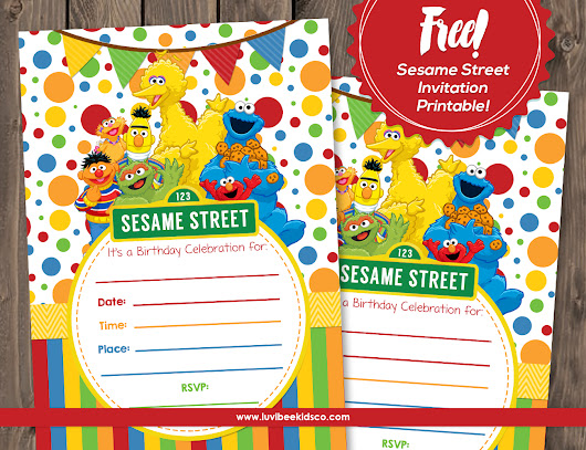 Sesame Street Free Printable Invitation