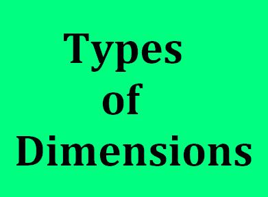 Types of Dimensions