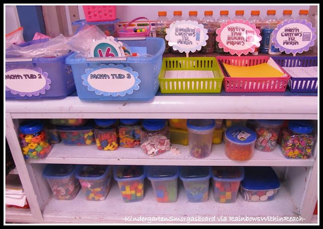 photo of: Classroom Organization in Kindergarten via RainbowsWithinReach