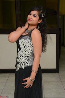 Shrisha Dasari in Sleeveless Short Black Dress At Follow Follow U Audio Launch 077.JPG