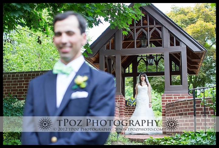 baltimore wedding first look picture