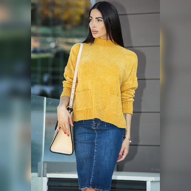 Ψηλόμεση  μπλε τζιν  φούστα VALYA