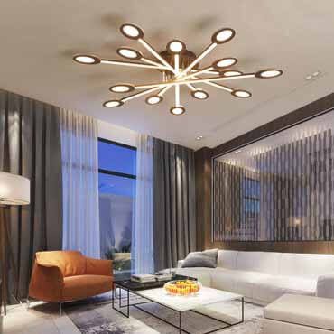 Liệt kê những mẫu đèn trần phòng khách HOT nhất đầu năm 2019