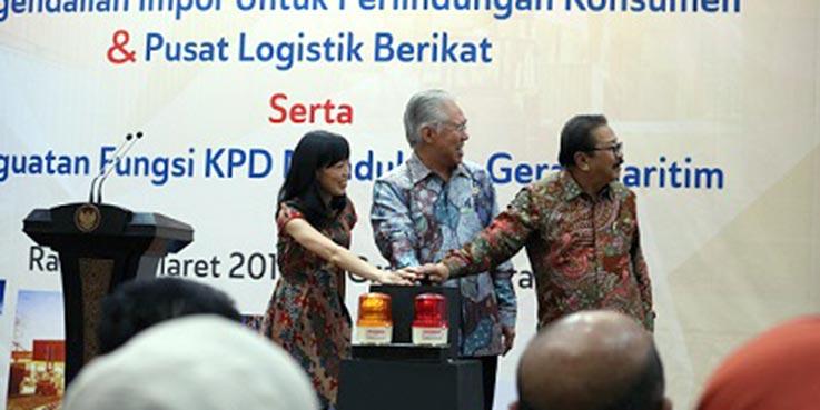 Peresmian Pusat Logistik Berikat (PLB) di Jawa Timur.