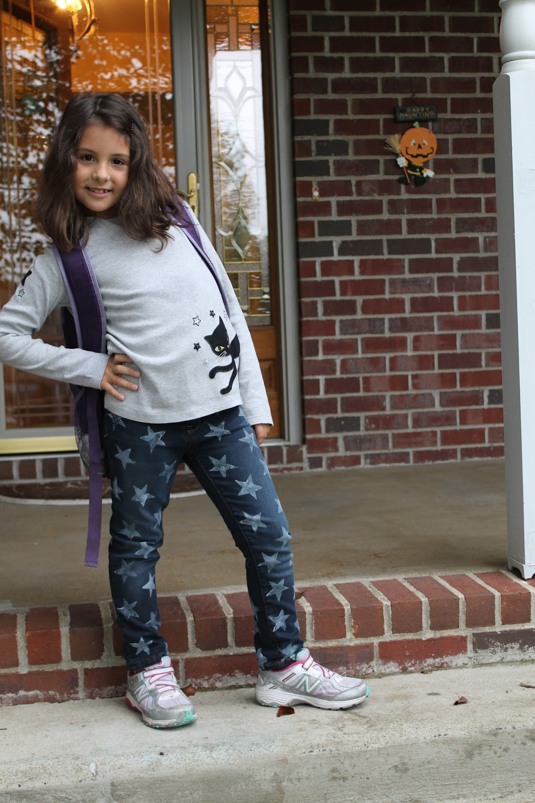 Diy Star Print Denim Jeans Soccer Mom Style
