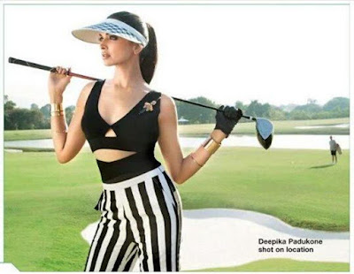 Deepika Padukone playing golf, Lodha Group, Photoshoot