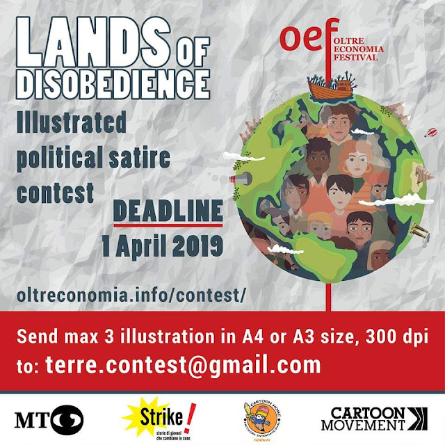 "International Cartoon Contest: ""Lands of Disobedience"", Italy 2019"