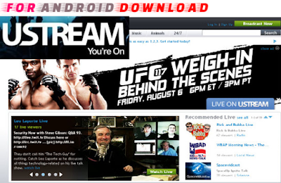 Download Free Ustream Apk For Android - Watch Live Sports on Android