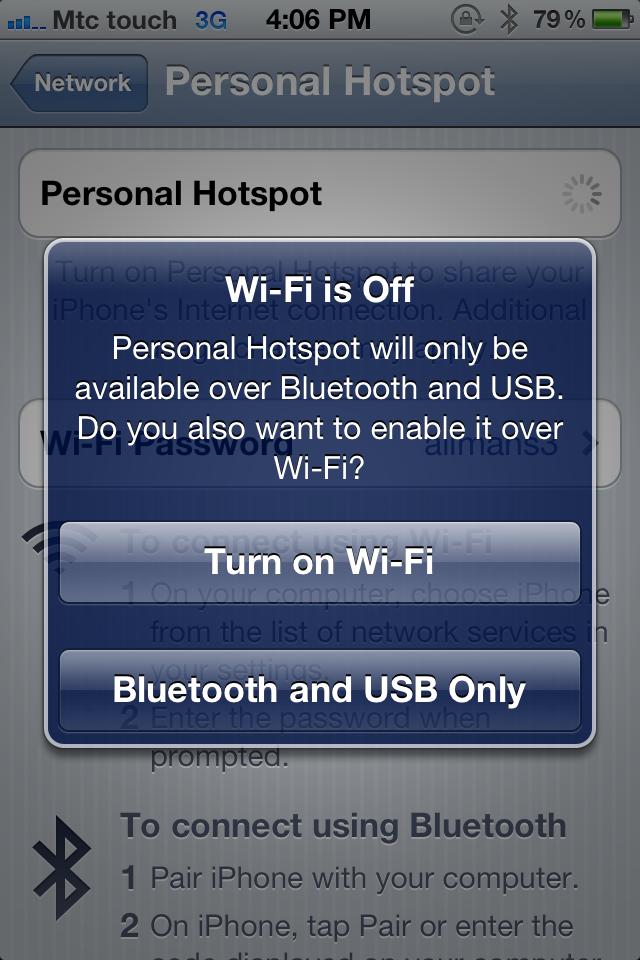Lebanon 3g How To Configure Personal Hotspot Feature Mtc