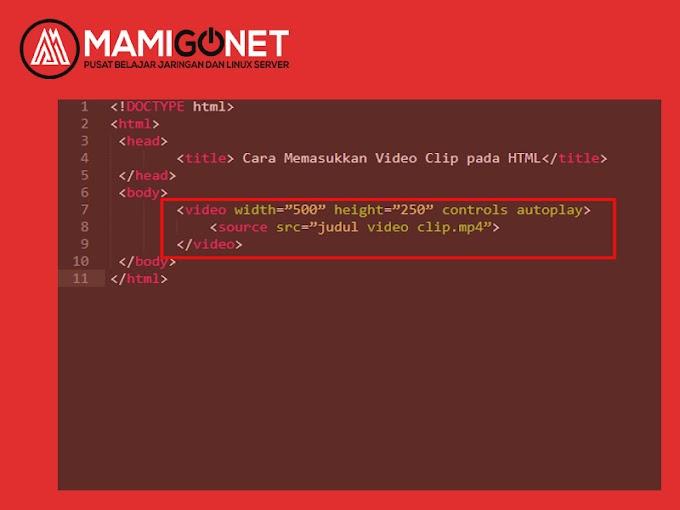 Menambah Video Pada HTML