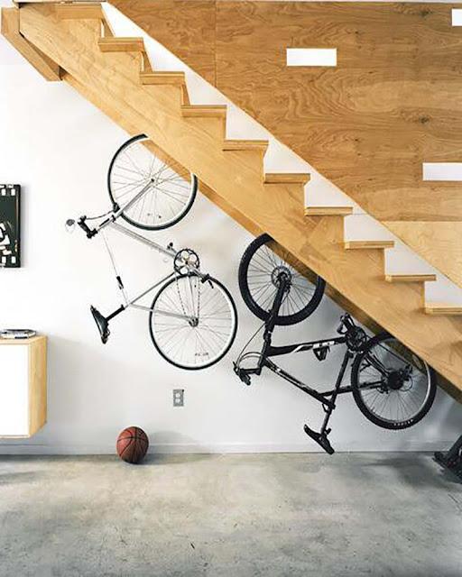 idée pour ranger son vélo et gagner de la place
