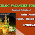 Recruitment of PWD Backlog Vacancies of Junior Assistant, Typist, Record Asst In Hyderabad, TS