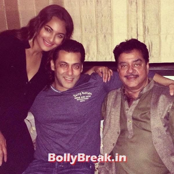 Sonakshi Sinha, Salman Khan and Shatrughan Sinha, Bollywood Eid Celebration Pics 2014