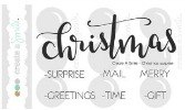 Create A Smile CHRISTMAS SURPRISE Clear Stamps