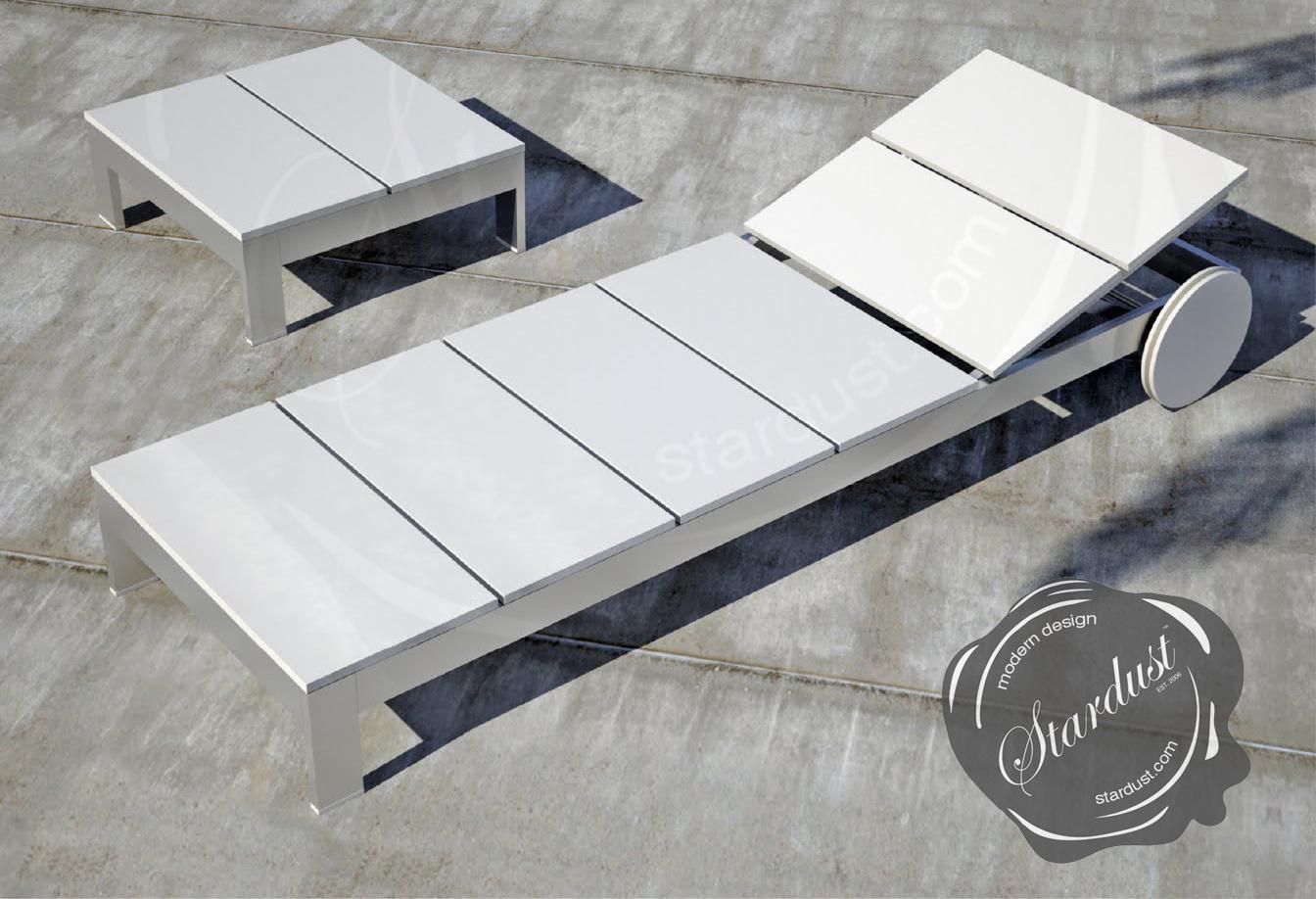 Modern Outdoor Na Xemena Furniture Tumbona By Gandia