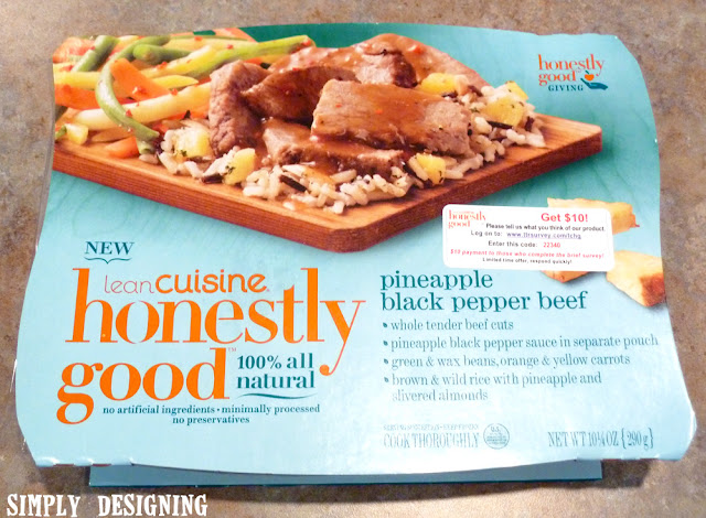 Pineapple Black Pepper Beef   a new microwave meal option from Lean Cuisine that is healthy and only contains natural ingredients   #HonestlyGood #PMedia #ad