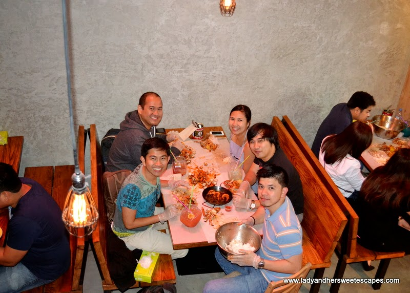 dinner at Dampa restaurant Dubai