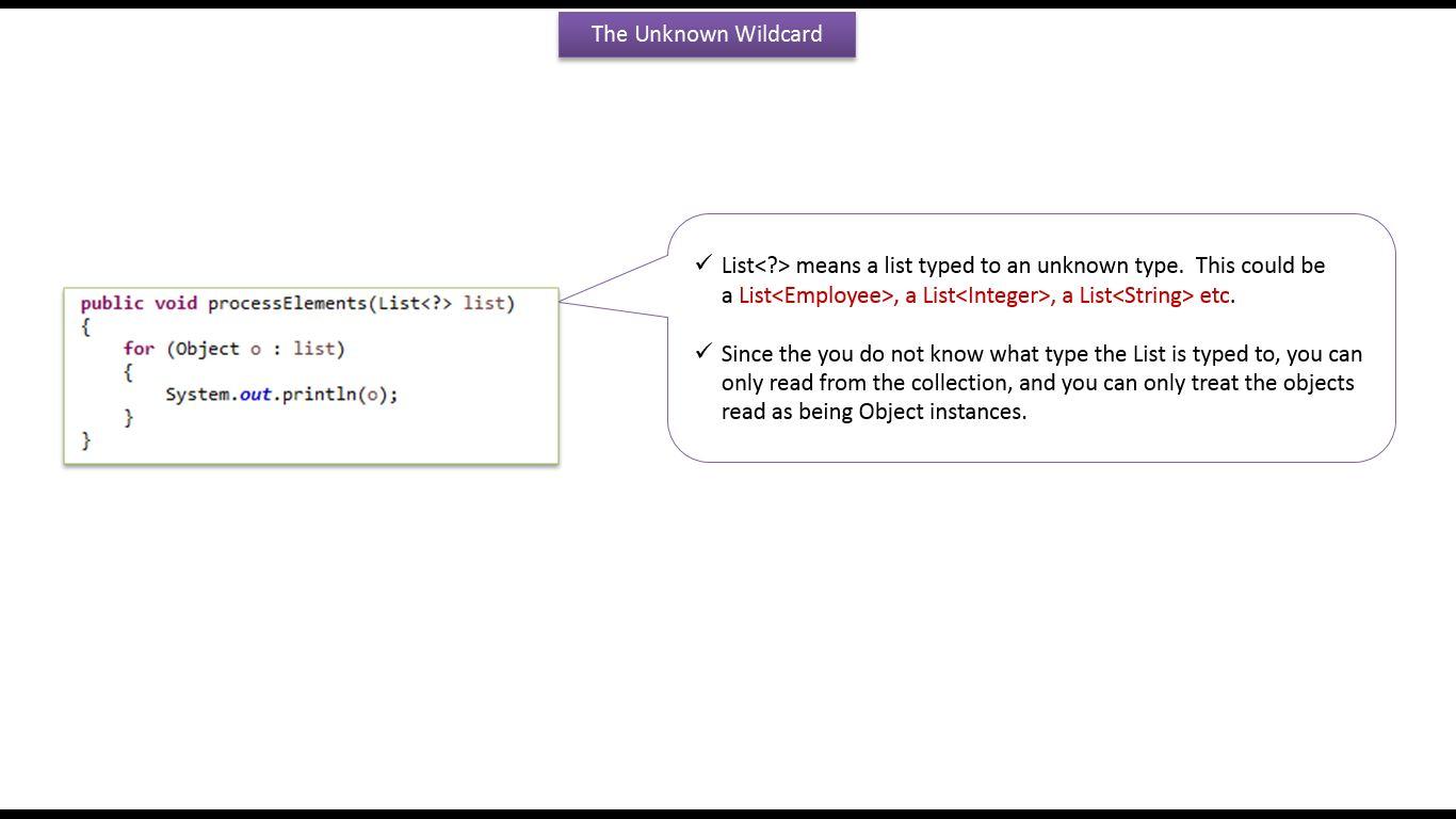 Java ee java tutorial generics in java java generics unknown java tutorial generics in java java generics unknown wildcard in java generics baditri Gallery