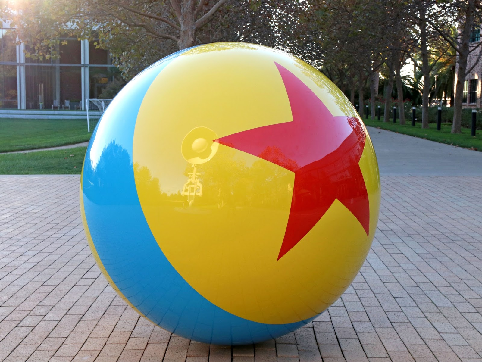 pixar studios giant luxo lamp and ball