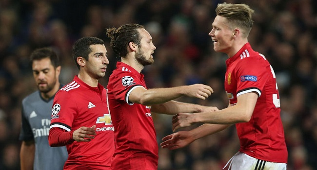 cuplikan gol manchester united vs benfica 2-0