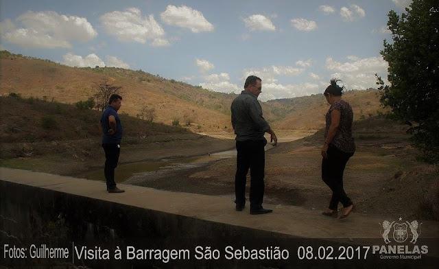 Prefeita Joelma Campos, Sérgio Miranda, vereador Genilson, visitaram a barragem que abastece Panelas-PE