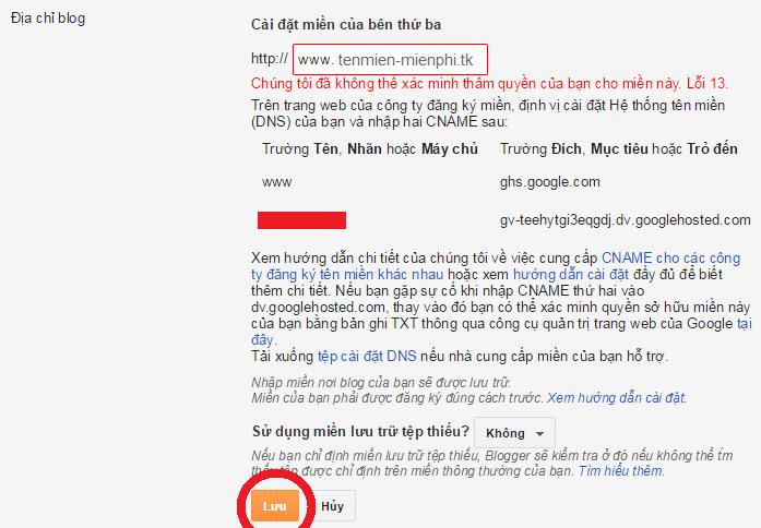 trỏ tên miền miễn phí .TK cho blogspot blogger thành công 100%