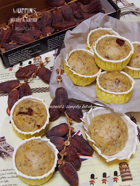 resep muffin pisang kurma kukus